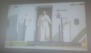Pope's Arrival